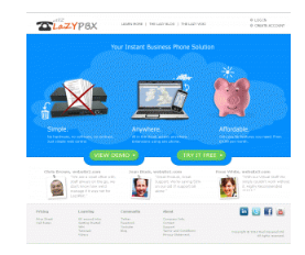 mock up of lazypbx home page