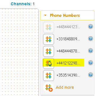 Getting a uk number: step 4b - See the number library